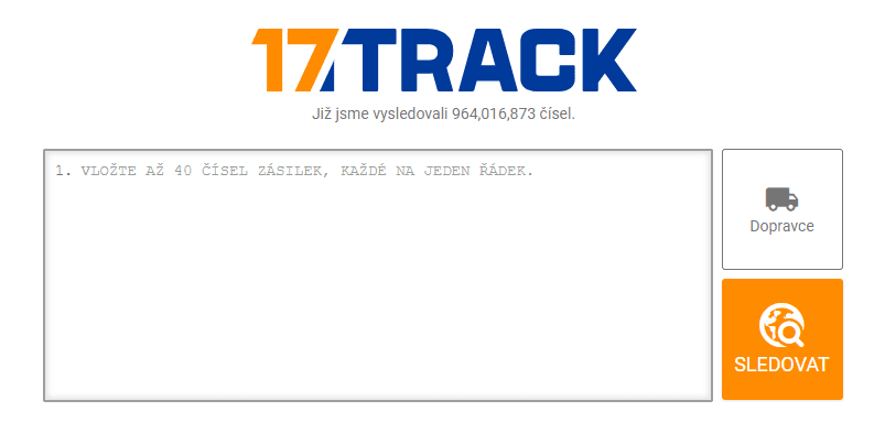 Služba 17track.net umožňuje snadno sledovat zásilku z Číny.