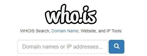 Na stránkách who.is je možné ověřit si majitele domény e-shopu.