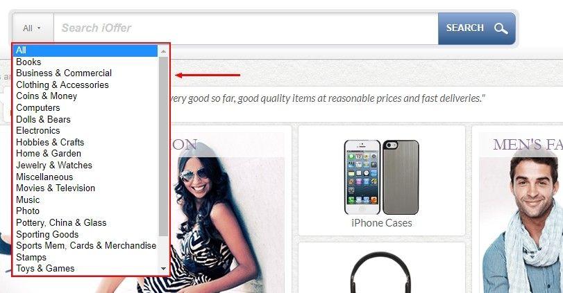 Zákazník může využít vyhledávací kolonku nahoře na stránce.