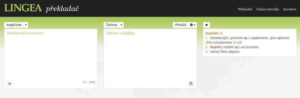 Lingea překladač se řadí mezi kvalitnější překladače z angličtiny.