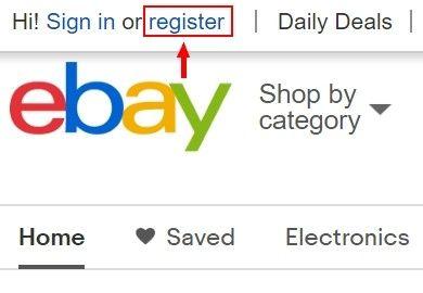 """Pro tvorbu nového účtu je třeba kliknout na políčko """"register""""."""