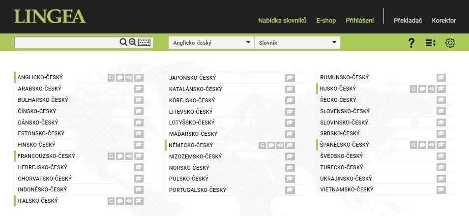 Slovník Lingea disponuje velmi kvalitním překladem zejména světových jazyků.