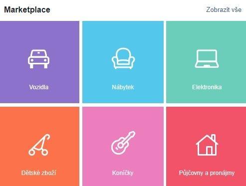Další možností jak prodávat na Facebooku je Marketplace.