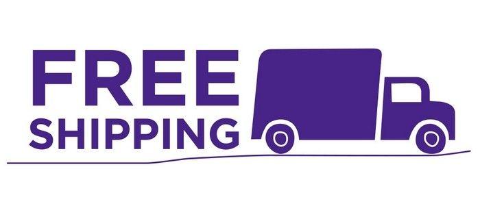 Pokud se u zboží nachází nápis Free shipping, znamená to poštovné zdarma.