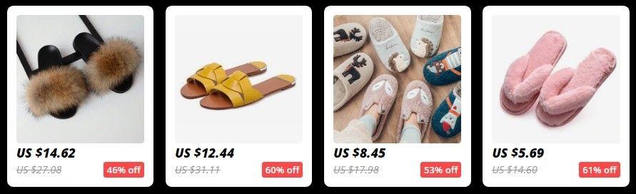 V sekci dámských pantoflí jsou chlupaté boty a pohodlné papuče na doma.