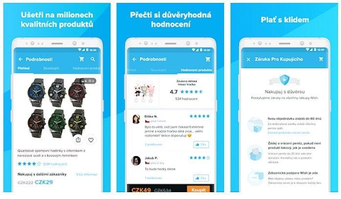 Aplikace Wish slibuje mnoho výhod.