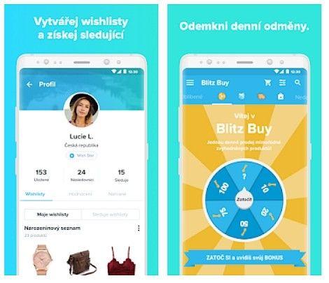 Aplikace Wish nabízí možnost vytvářet si wishlisty a každý den odemknout novou odměnu.