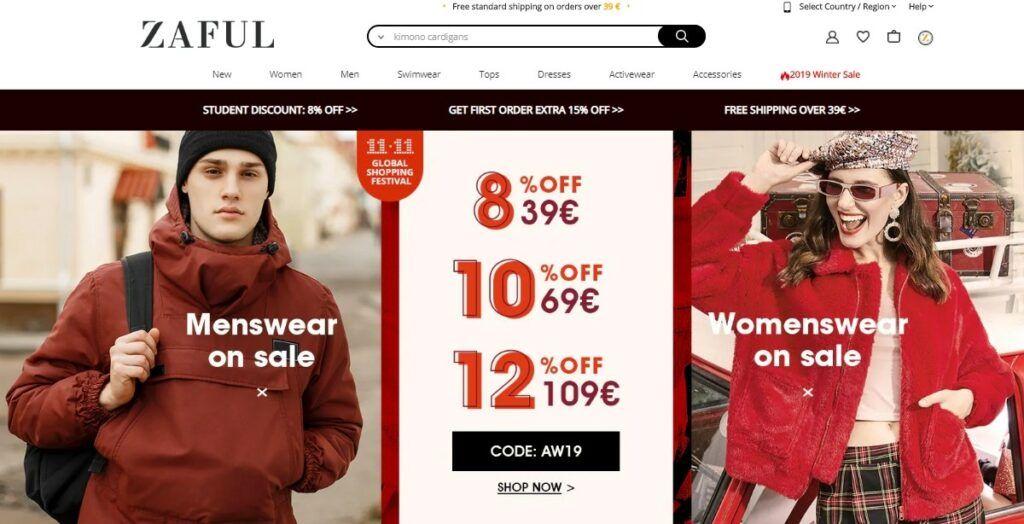 Zaful nabízí pestrou nabídku oblečení za příznivé ceny, slevové kódy a slevu 15% na první objednávku.