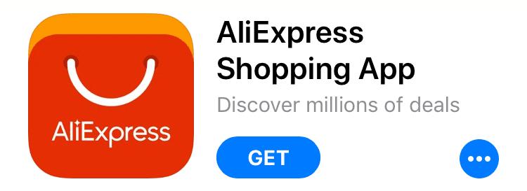 Pro ještě snazší nákupy lze využít mobilní aplikaci AliExpress.