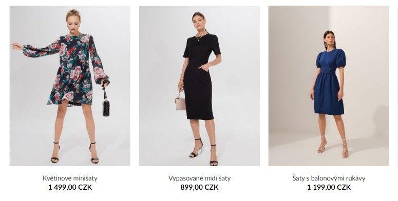 Na e-shopu Mohito jsou šaty v různých barvách a stylech pro různé příležitosti.