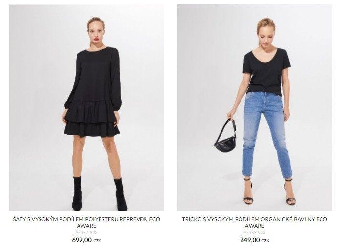 V řadě Eco Aware je možné nakoupit trička, šaty, kalhoty, sukně a mnoho dalšího.