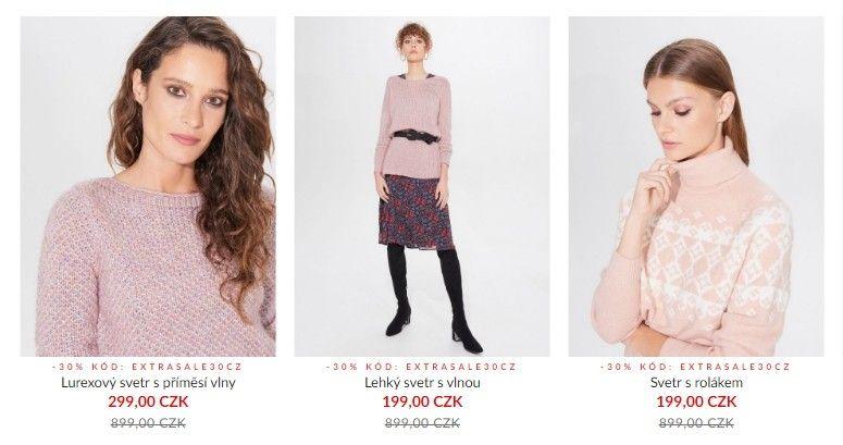 Momentálním výprodejem vládne zimní oblečení a doplňky.