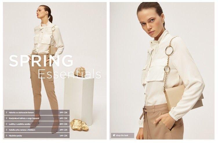 Lze se inspirovat v sekci Get inspired, ve které Mohito shop předpřipravil kompletní outfity.