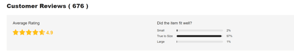 Doplňující informace ohledně velikosti lze najít v uživatelských recenzích.