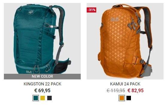 Kromě nich je v nabídce i několik doplňků pro batohy, jako jsou například pláštěnky