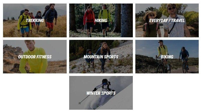 Tato značka nabízí především oblečení pro sportovce.