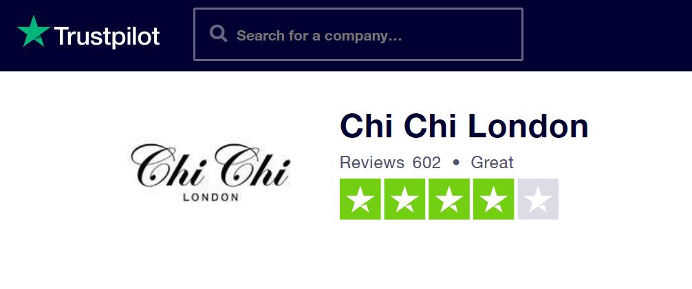 Na webu Trustpilot.com jsou recenze Chi Chi London z převážné většiny pozitivní.