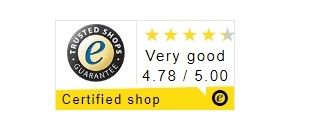 E-shop Street One disponuje certifikátem Trusted Shops.