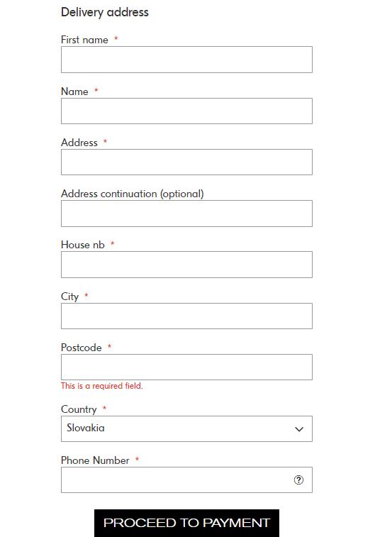 Během registrace v e-shopu Tally Weijl je požadováno několik základních údajů.