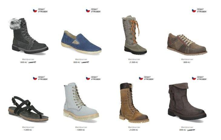 Nejobsáhlejší kategorií jsou dámské boty.