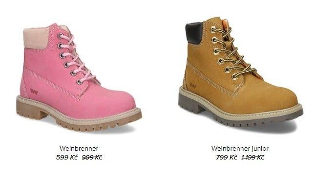 Značka Weinbrenner nabízí i dětskou obuv.