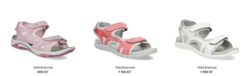 Jednou z kategorií, které Weinbrenner obuv nabízí, jsou sandály.