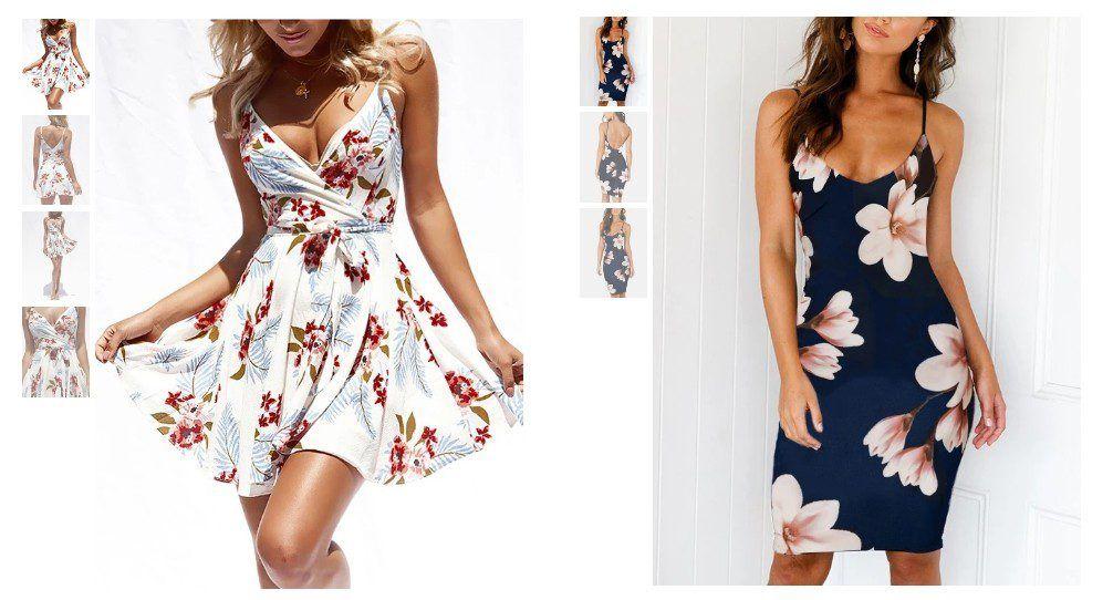 Oblíbeným vzorem šatů na Yoins jsou květiny.