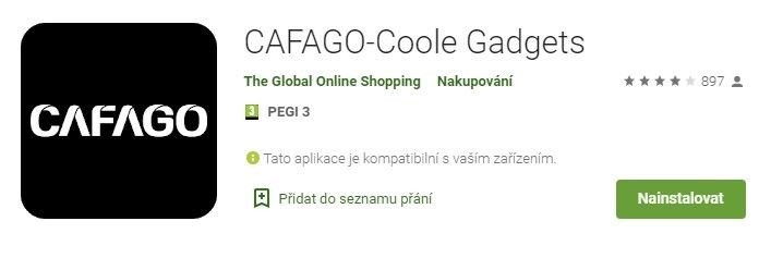 CAFAGO-Coole Gadgets má velmi dobré hodnocení.