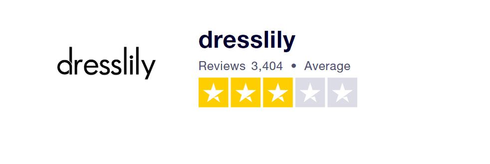 Recenze Dresslily na webu Trustpilot.com.