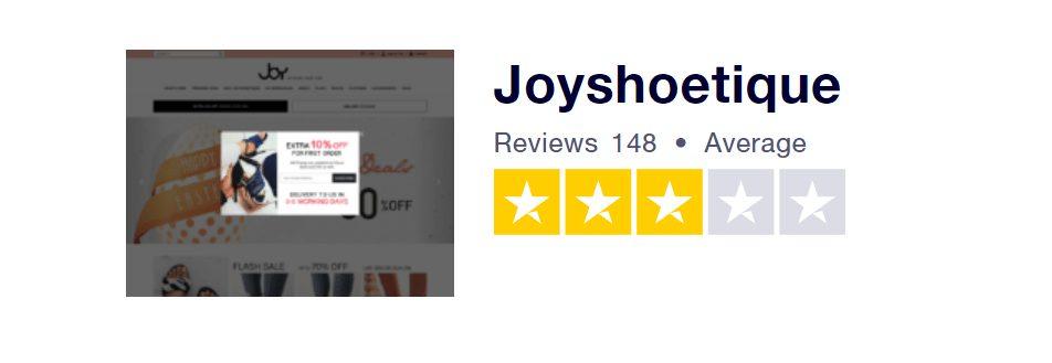 Recenze Joyshoetique na portálu Trustpilot.com.