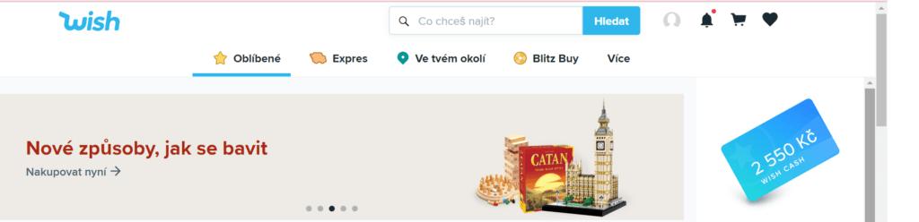 Rozhraní obchodu i zákaznická podpora jsou na Wish v češtině.