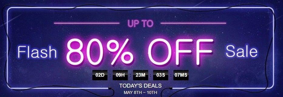 Flash deals jsou časově omezené nabídky, které slibují slevu až 80 %.