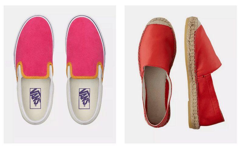 Espadrilky i tzv. boty slip-on jsou pohodlné boty bez zavazování, které se hodí pro všechny neformální příležitosti.
