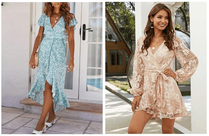 I zavinovací šaty se nabízejí v délkách mini, midi i maxi.