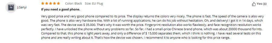 Výborná hodnocení sklízí také telefony na Gearbest.com.