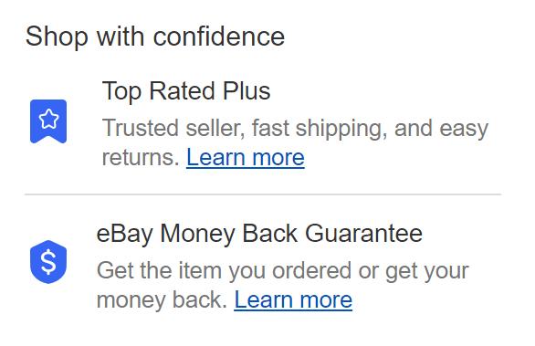 eBay touto zárukou garantuje, že v případě problémů u daného produktu přiměje prodejce, aby zákazníkovi buďto zaslal nový balíček nebo mu vrátil peníze.