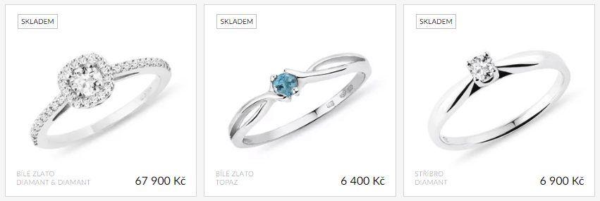 Klenota.cz nabízí jednoduché zásnubní prsteny, ale také extravagantnější kousky pro všechny budoucí snoubenky.